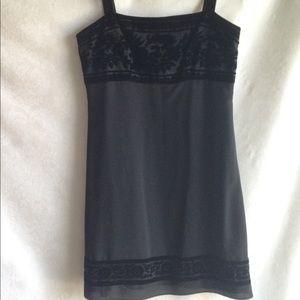 Harold's Little Black Sheath Dress Burnouts Siz.12