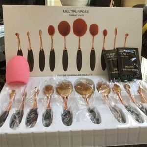 Other - New 10pcs oval brushes +cleanser