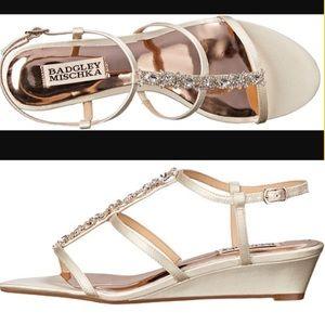 Badgley Mischka Shoes - Badgley Mischka 'Carley' Embellished Wedge Sandals