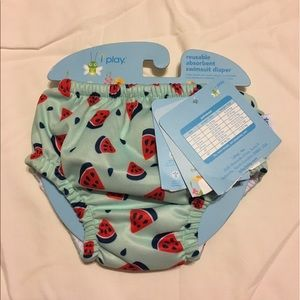 I Play Other - NWT I Play Reusable Watermelon Swimsuit Diaper 6M