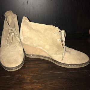 J.Crew suede wedge booties
