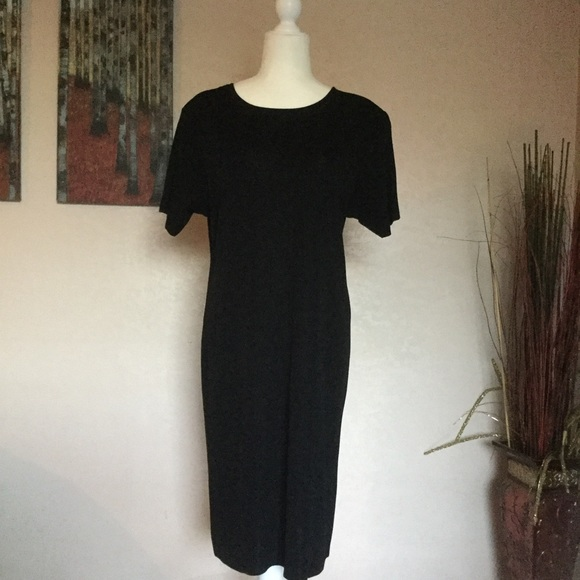 Misook Dresses Exclusively Misook Acrylic Black Dress Poshmark