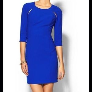 Tinley Road Dresses & Skirts - Cobalt royal blue cutout sheath dress sleeves