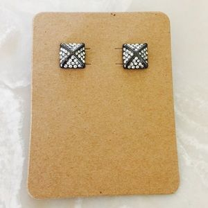 The Limited Pyramid Stud Earrings Gunmetal
