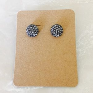 The Limited Stud Earrings Gunmetal/Rhinestones