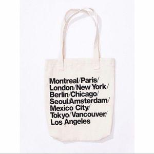 American Apparel Handbags - American Apparel Classic Cities Tote