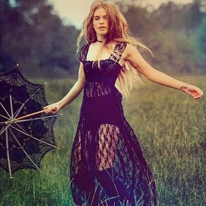 NWT Free People Romance in the Air Lace Maxi