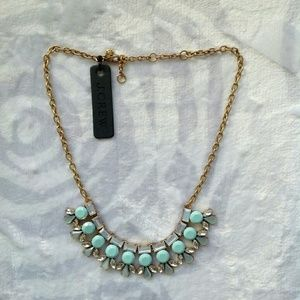 J. Crew Jewelry - Jcrew mint green statement necklace