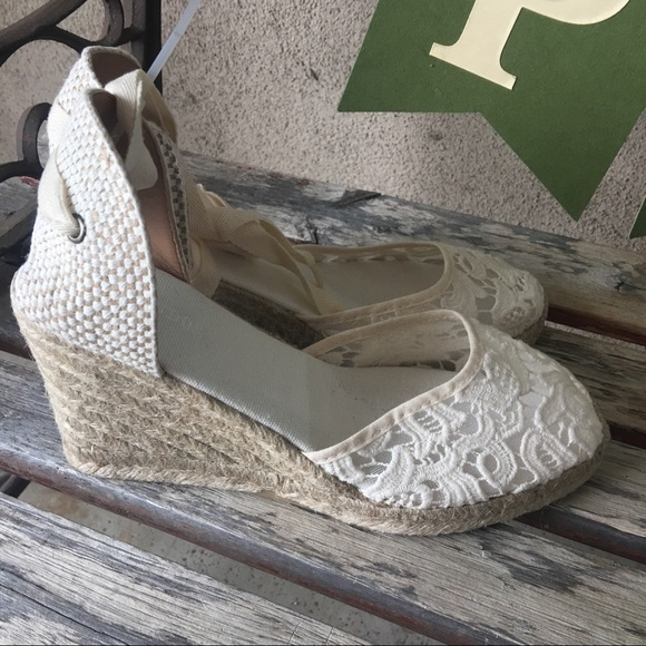 6d565a823df Soludos TULIP LACE TALL WEDGE ESPADRILLE SANDAL