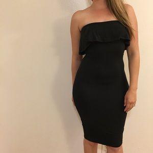 Dresses & Skirts - •LAST TWO• Ruffle Top Strapless Midi Dress