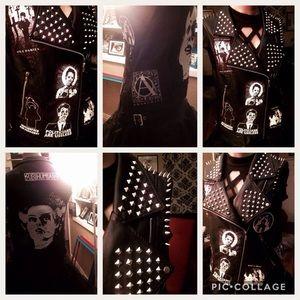 Bride of Frankenstein leather face horror vest