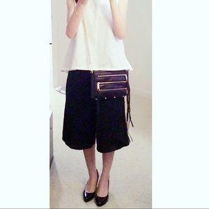 Rebecca Minkoff Handbags - Rebecca Minkoff mini 5-zip crossbody (black/gold)