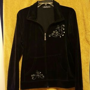 Lynngarbo Other - NWOT Velour womans black sweat suit