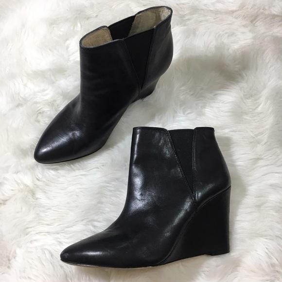 b8ef12715cf louise et cie Shoes - Louise et cie Lo Wikket leather wedge bootie heel