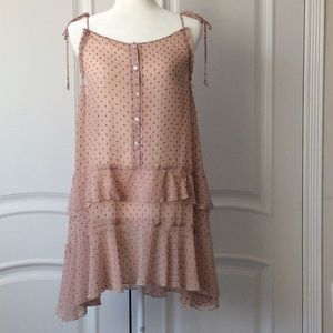 FREE PEOPLE INTIMATELY PINK MINI SLIP DRESS