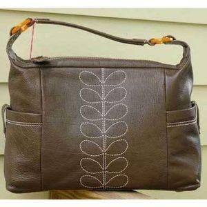 Orla Keily Handbags - 💼 Lovely Orla Kiely leather bag made in London