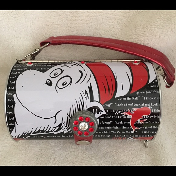 3f1c876cf0a6 Dr. Seuss Bags | Dr Seuss Cat In The Hat Metal Purse | Poshmark