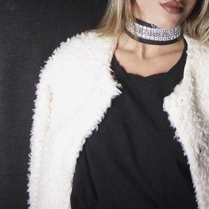 Jewelry - Festival black Bandana choker neckerchief
