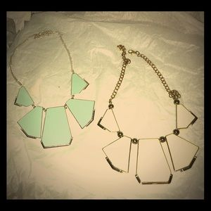 Set of two! Geometric necklaces