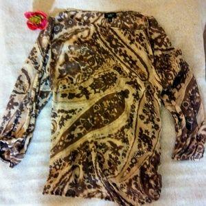 Talbots Tops - Talbots boho tassel shirt