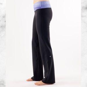 lululemon athletica Pants - Lululemon Astro pant purple waistband striped