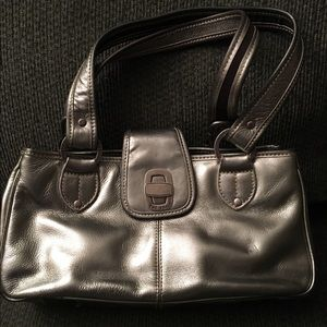 The Sak Handbags - The Sak Silver Leather Satchel Handbag Purse