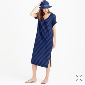J. Crew Dresses & Skirts - J. Crew Striped Indigo Caftan