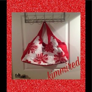 ⤵🆕Red/White Tote Bag w/ 2️⃣Bonus Pouches ~ FIRM‼️