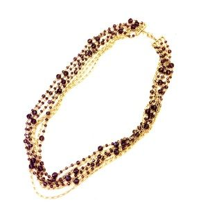 Purple and gold Banana Republic necklace