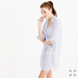 J. Crew Dresses & Skirts - J. Crew Lightweight Striped Shirt Dress