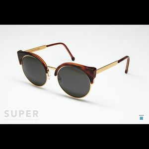 RetroSuperFuture Accessories - Retrosuperfuture gold sunglasses
