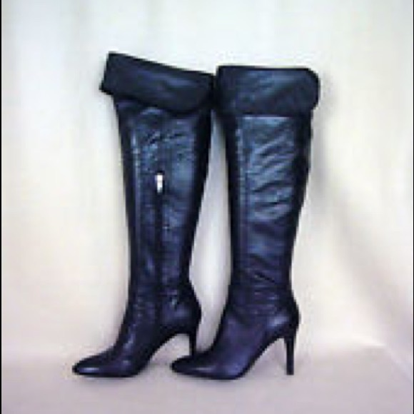 0c493d96aff Enzo Angiolini Shoes - Enzo Angiolini over the knee black leather boots
