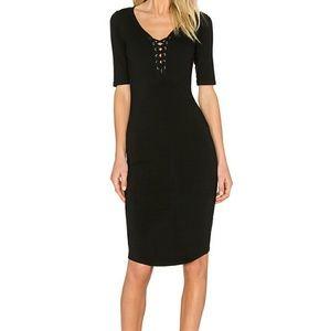 Monrow Dresses & Skirts - NWT $135 MONROW LACE UP DRESS SZ M