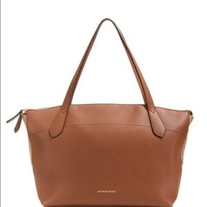 Burberry Handbags - Tan Burberry Medium Derby House Check Welburn Tote