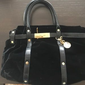 Lanvin Handbags - Lanvin black velvet purse