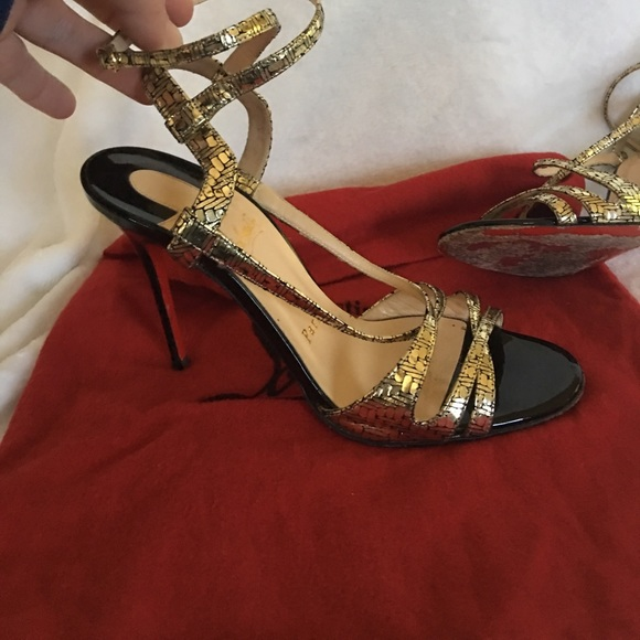 the latest 3a181 0ffd1 Christian Louboutin Red Bottom Strappy Sandals