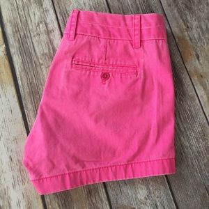 J. Crew Pants - J Crew Neon Pink Chino Shorts