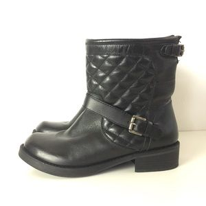 Matisse Homestead Black Quilted Leather Boots