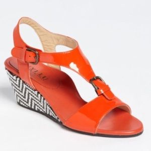 Anyi Lu Shoes - 🔥SALE🔥Anyi Lu orange Wedge Sandals