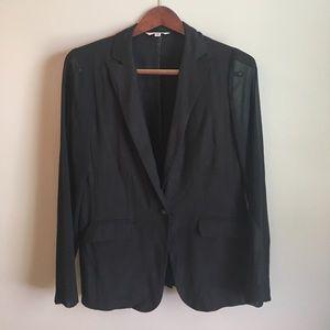 CAbi Jackets & Blazers - CAbi | Casual Lightweight Blazer Black Sheer