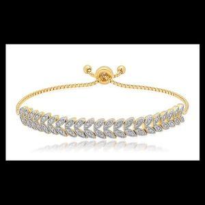 Curvy Couture Jewelry - Diamond Yellow Gold Boho Bracelet Beautiful