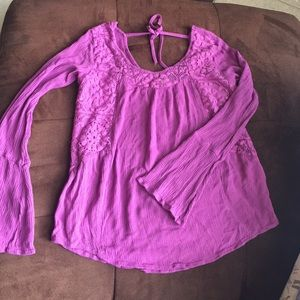 Eyeshadow blouse fucsia magenta color S