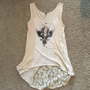 Free People We the Free tank with lace details
