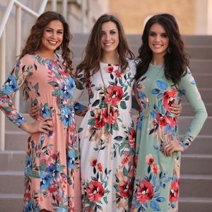 ☀️Butter soft floral spring dresses with pockets