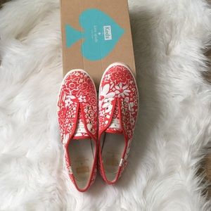 kate spade Shoes - Kate Spade Red Floral Keds
