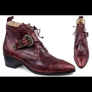 Modern Vice Shoes - Modern Vice Frankie boots in Oxblood 37