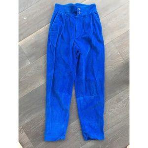 Vintage Bold Blue 80's Corduroy Pants