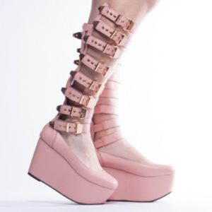 Yes Shoes - Yes Milky Way Shoes in Pink Leather