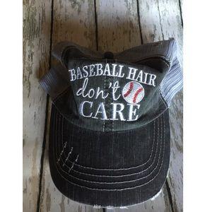 BASEBALL HAIR DON'T CARE BASEBALL TRUCKER HAT