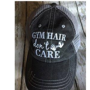 GYM HAIR DON'T CARE BASEBALL TRUCKER HAT